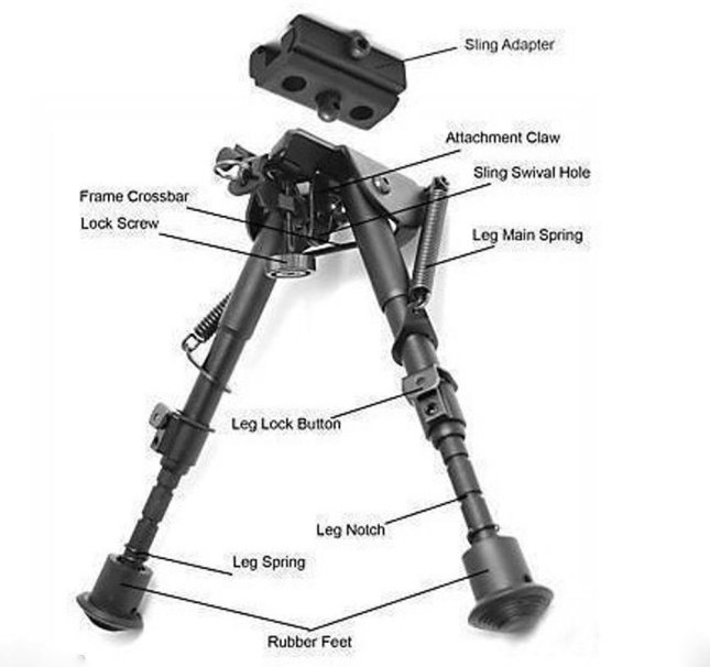 612bGp-AN2L._SL1500_ The Best AR 15 Bipod Today That Will Improve your Hunting Skills