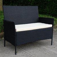 Tangkula 4 pcs Wicker Furniture Set Rattan Sofas Garden ...