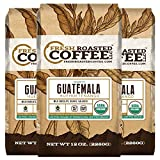 Organic Guatemala Huehuetenango Fair Trade Coffee, Whole Bean, Fresh Roasted Coffee LLC (Pack of 3)