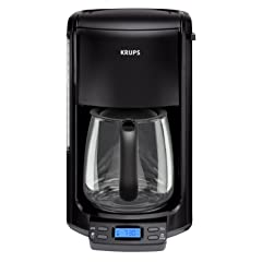 KRUPS FME214 Programmable 12 Cup Black Coffee Maker