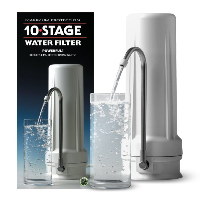 Amazon.com : New Wave Enviro Premium 10 Stage Water Filter System We installed this 10-stage water filter system under cabinet in our sink for our drinking water. We also have a dual canister total bus filter system.
