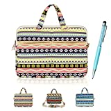 ACO-UINT Bohemian Style Canvas Fabric Ultraportable Neoprene 13-13.3 Inch Laptop / Notebook Computer / Macbook Air / Macbook Pro / Macbook Sleeve Office Tote Briefcase Carry Case (Case Cover 1)
