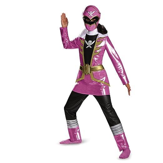 Disguise Saban Super MegaForce Power Rangers Pink Ranger Deluxe Girls Costume, Large/10-12