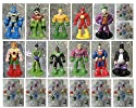 "DC Comics Super Hero 12 Piece MINI Holiday Christmas Set Featuirng Superman, Krypto, Batman, Robin, Aquaman, Green Lantern, Flash, Hawkman, Joker, Riddler, Penguin, Lex Luther - Shatterproof Ornaments Range from 2"" to 3"" Tall"