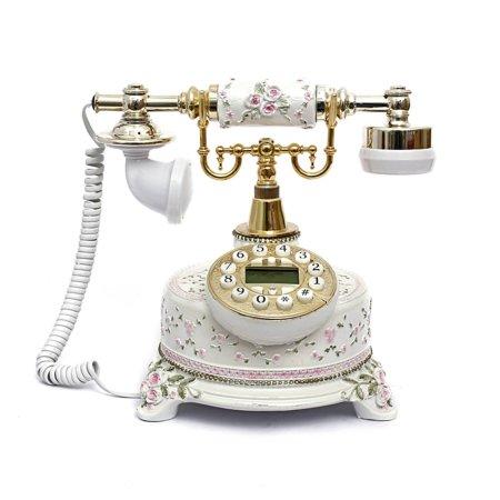 Retro Vintage Antique Style Push Button Dial Desk Telephone