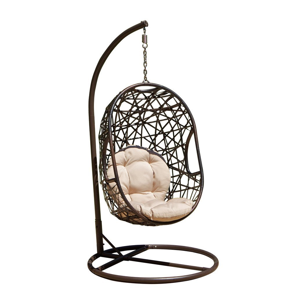 egg shaped swing chair hanging rattan comfortable garden hammock chairs and