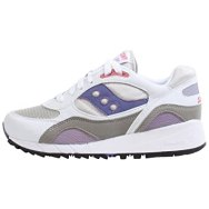 Womens Saucony Shadow 6000, White/Grey, 6.5 B