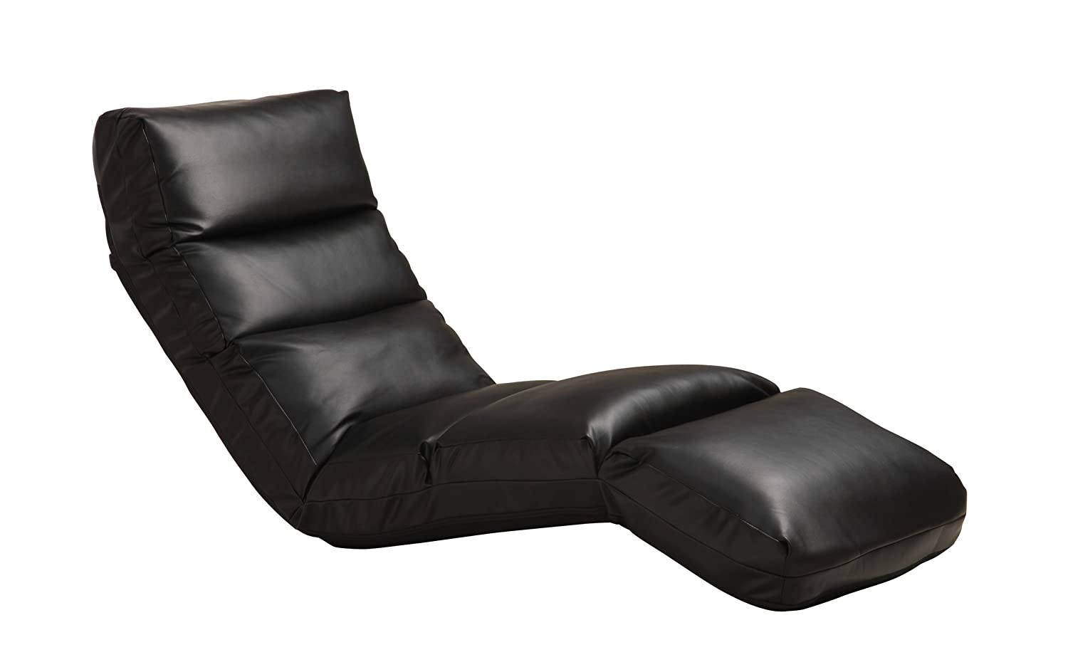adjustable floor chair with 5 settings diy bean bag cover gaming lounge black chaise media room