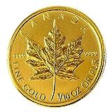 【メイプルリーフ金貨】 メイプル金貨 1/10オンス カナダ王室造幣局発行 3.11gの純金 コイン K24 保証書付き