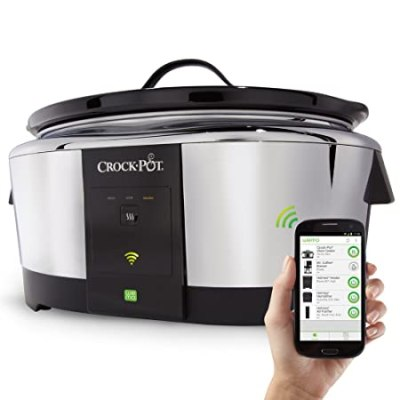 Crock-Pot Smart Wifi-Enabled WeMo 6-Quart Slow Cooker, SCCPWM600-V1