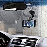 6192TM98y%2BL. SL160  - BEST BUY #1 In Car Mobile Phone and PDA Holder with Credit Card Slot Best Seller Brand NEW Car Windscreen Cradle Holder for iPhone 6 / 5s / 5c / 4S / 4 / 3GS Samsung Galaxy Note II S5 /S4 /S3 / Note Epic Touch 4G Nokia Lumia 900 HTC One X EVO 4G Rhyme DROID RAZR BIONIC INCREDIBLE Google Nexus BlackBerry Torch LG Revolution GPS of width 50mm - 83mm 360 Degree Rotation simply fit almost all Phones Samsung Apple HTC Nokia Blackberry Motorola Sony Ericsson LG