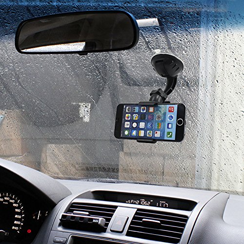 6192TM98y%2BL - BEST BUY #1 In Car Mobile Phone and PDA Holder with Credit Card Slot Best Seller Brand NEW Car Windscreen Cradle Holder for iPhone 6 / 5s / 5c / 4S / 4 / 3GS Samsung Galaxy Note II S5 /S4 /S3 / Note Epic Touch 4G Nokia Lumia 900 HTC One X EVO 4G Rhyme DROID RAZR BIONIC INCREDIBLE Google Nexus BlackBerry Torch LG Revolution GPS of width 50mm - 83mm 360 Degree Rotation simply fit almost all Phones Samsung Apple HTC Nokia Blackberry Motorola Sony Ericsson LG