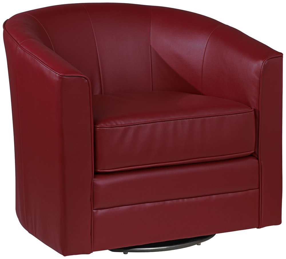 Swivel Tub Chair Keller Scarlet Bonded Leather Swivel Tub Chair Furniturendecor