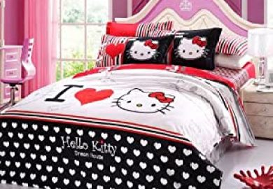 Amazon Bedding Queen Size Hello Kitty Home Kitchen