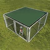 ALEKO® 5 x 10 Feet Dog Kennel Shade Cover w/ Aluminum Grommets Dark Green