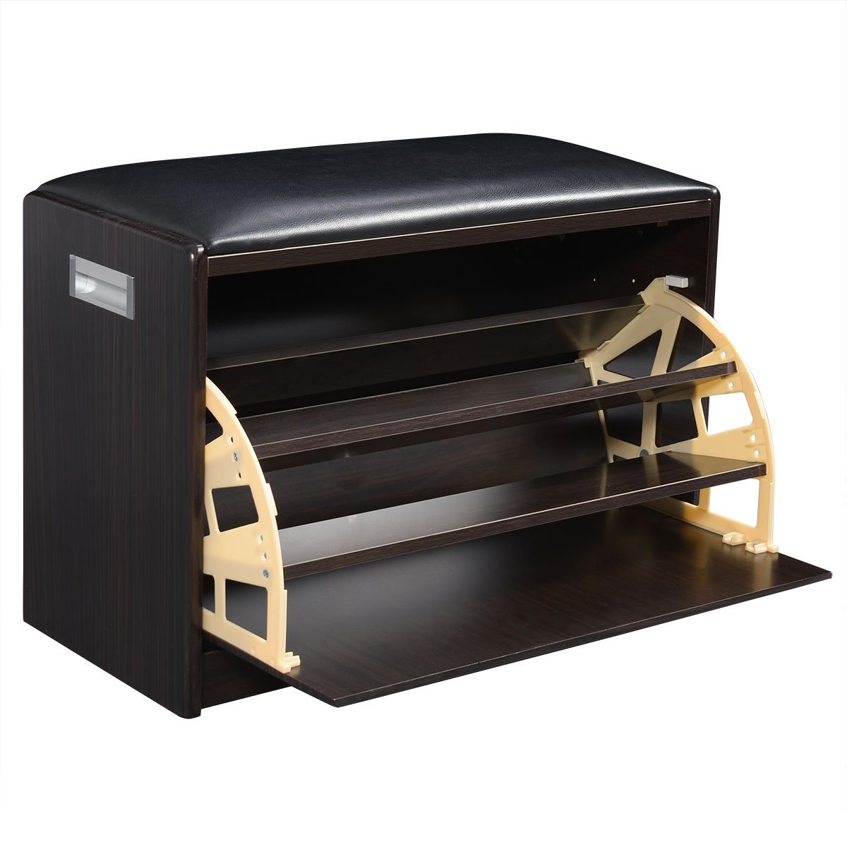 Giantex Wood Shoe Storage Cabinet Bench Ottoman Closet