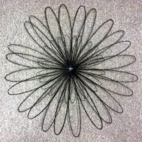 "Amazon.com - 30.5"" 'Boho' Black Metal Wire Zinnia Flower ..."