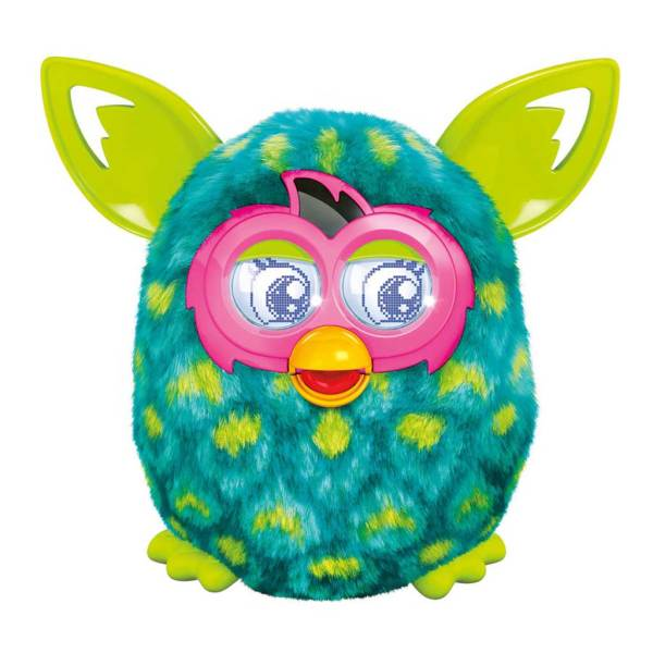 Furby Boom Peacock Interactive Toy Plush Green Blue Feather Furbling Electronic