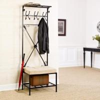 Amazon.com: SEI Black Metal Entryway Storage Bench with