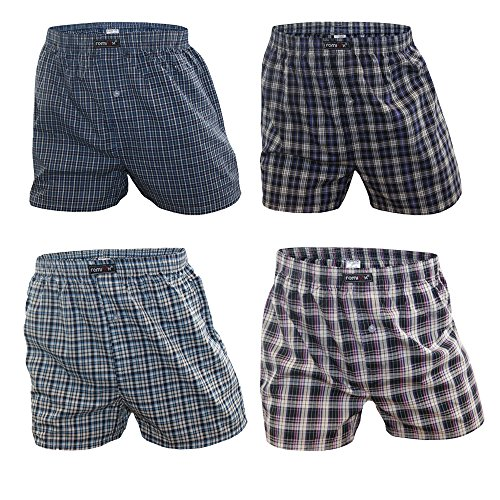 5 oder 8 Stück Unterhose Boxershorts für Herren 100% Baumwolle Kariert Karo Muster Bunt Boxer von SGS