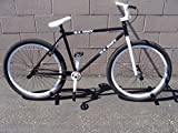 "New 2016 R4 Black & White 26"" Bmx Freestyle Cruiser Old School Bicycle with Pegs"