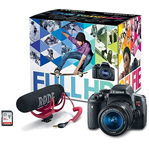 Canon EOS Rebel T6i Video Creator Kit with 18-55mm Lens