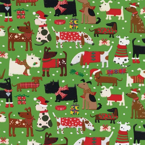 Animal Christmas Wrapping Paper Kritters In The Mailbox