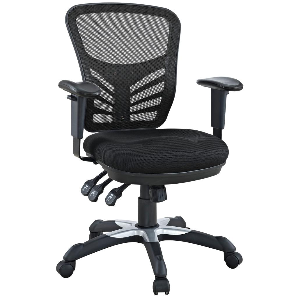 Black Desk Chair Amazon Lexmod Articulate Black Mesh Office Chair