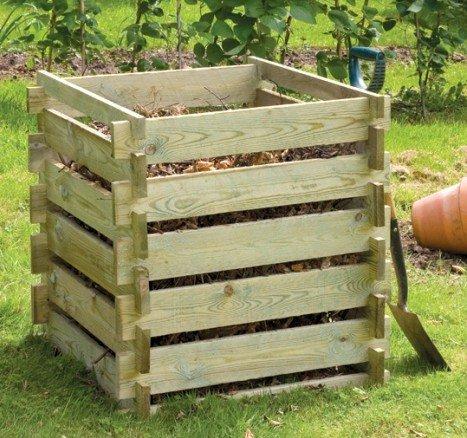 Kleiner Holzkomposter (373 Liter) von Primrose