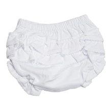 Kissy Kissy - Basic Diaper Cover with Ruffle - White-3-6mos