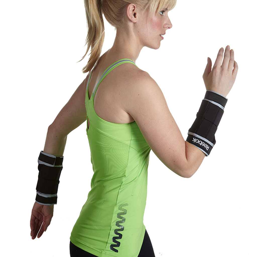 reebok perfect fit arm weights wrist sports outdoors