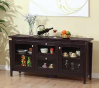 Buffet Table With Glass Doors
