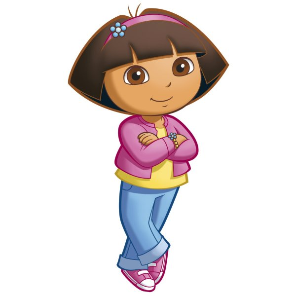 Roommates Rmk1400gm Dora Explorer Peel And Stick Giant Wall Decal Fre