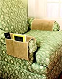 chair arm protectors with pockets foam fold out set of 2 beige holds remote control
