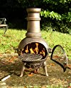 Quality Cast Iron Chimenea BBQ with Swing out Grill Barbeque  Chiminea Patio Heather