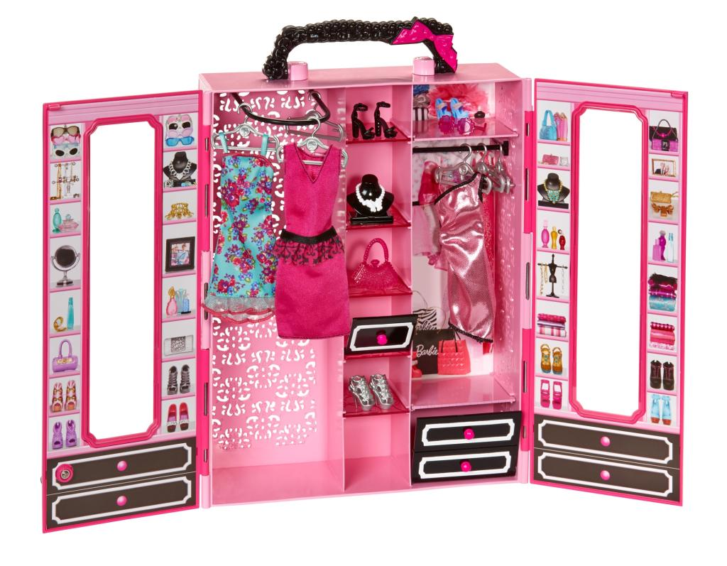 Barbie Garderobe Amazon Barbie Closet And Fashion Set Toys And Games