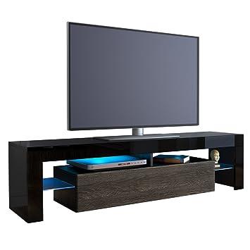 meuble tv bas armoire basse lima en noir mali wenge cuisine amp maison vegetale22