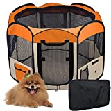 "56"" Large 2-Door Waterproof 600D Oxford Cloth Pet Playpen Dog Puppy Tent Exercise Kennel"