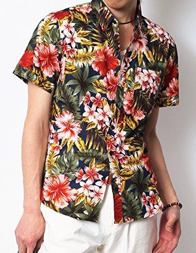 (リピード) REPIDO ブロード花柄シャツ半袖 #3 XL