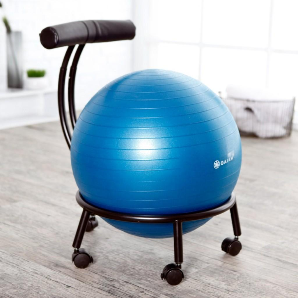 Exercise Chairs Amazon Gaiam Custom Fit Adjustable Balance Ball
