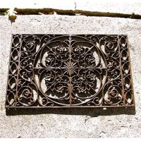Iron Victorian Scrolled Doormat/wall Decor Rust Finish