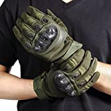 Ohuhu Men's Hard Knuckle Full Finger Military Gear Tactical Gloves, Shooting Combat Bike Gloves