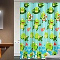 Com uphome shower curtain happy frog amp fish green shower curtain