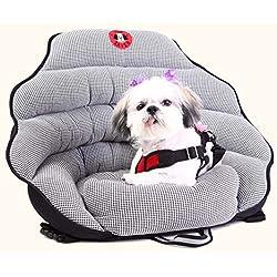 PupSaver Original Dog Car Seat Black White Houndstooth