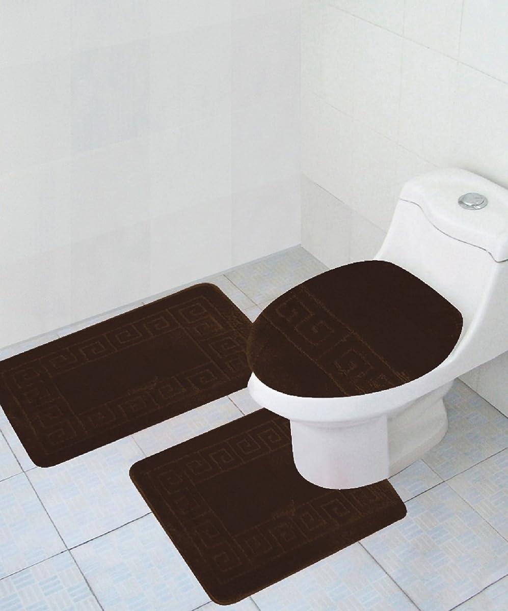 """3 Piece Bath Rug Set Pattern Bathroom Rug (20""""x32"""")/large"""