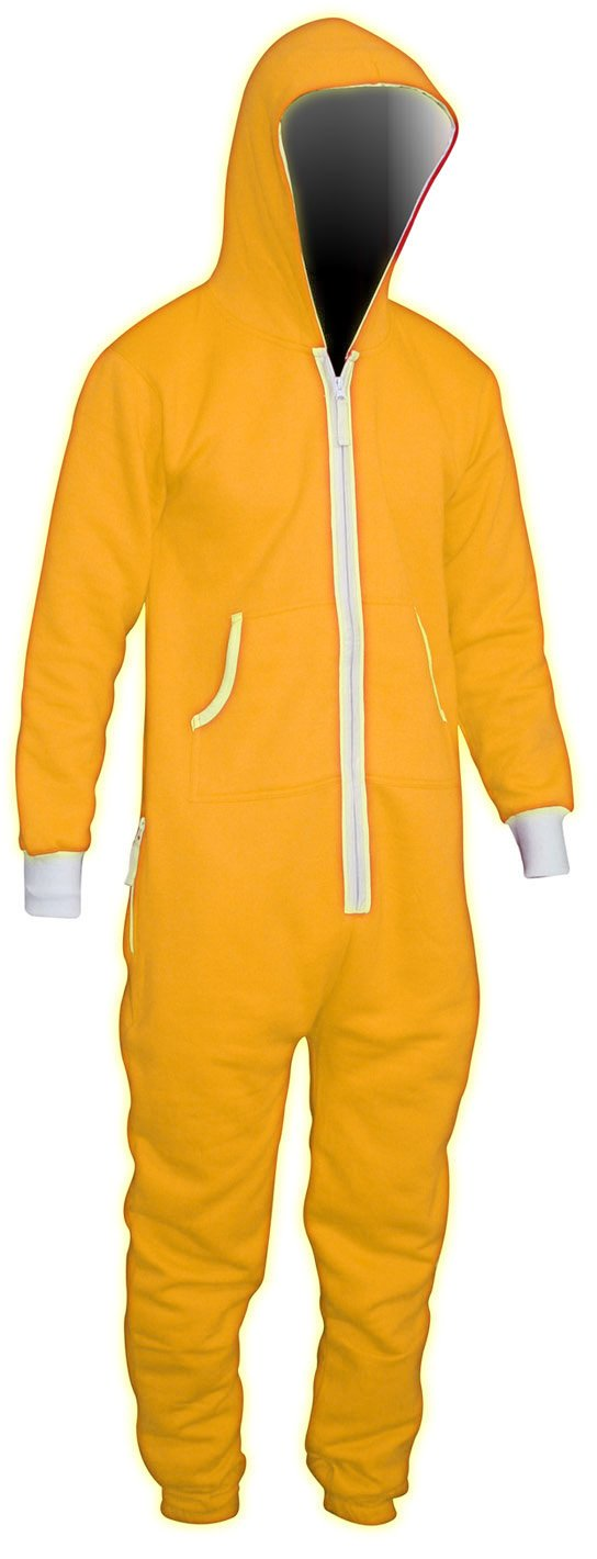 Yellow Men's Unisex Onesie Jumpsuit One Piece Non Footed Pajama Playsuit - Available in 8 colors