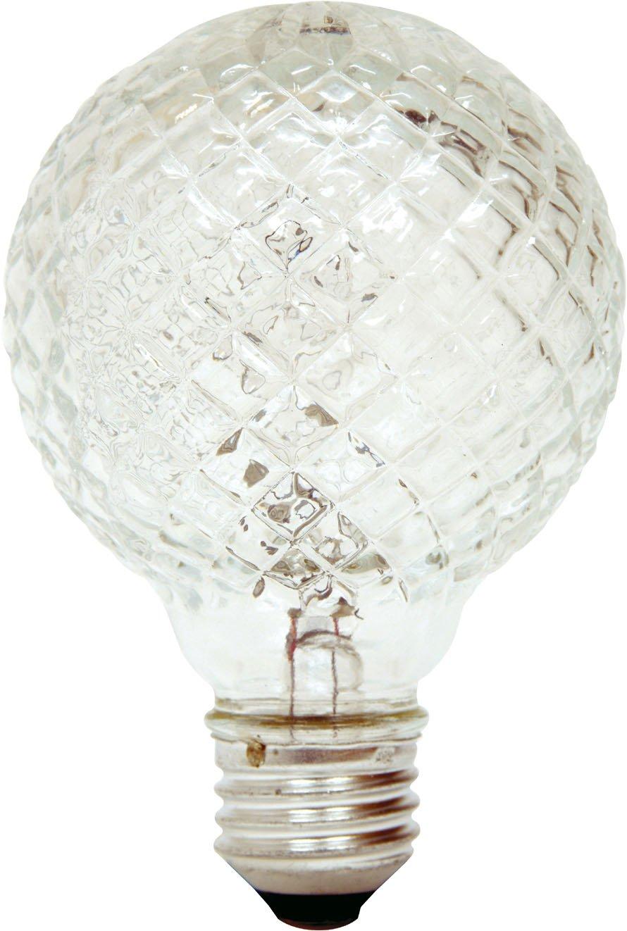 GE Lighting 16774 40Watt Halogen Faceted G25 Vanity Light
