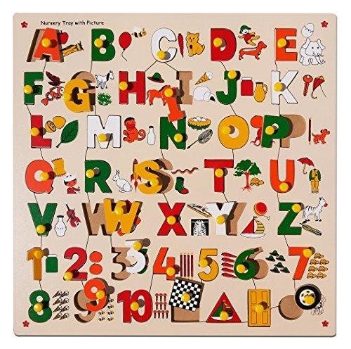 Skillofun Number ABC Alphabet And Shape Puzzle With