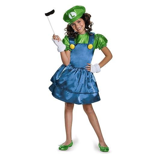 Disguise Luigi Skirt Version Costume, Medium (7-8)