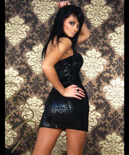 LH-Dessous - 11722 Größe S-M. Sehr hochwertiges und sehr erotisches, schweres Pailletten-Kleid, perfekt für jede glamouröse Party.